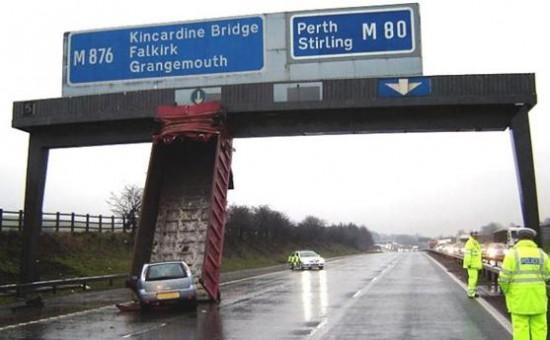 accident de camion trop fort les anglais