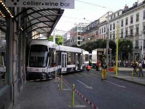 déraillement d'un tramway