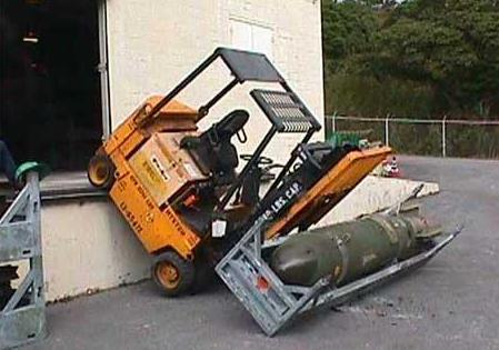 transport dangereux de bombe