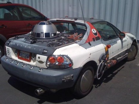 Voiture d un fan de StarWars