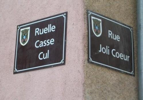 Rue casse cul - Rue joli coeur
