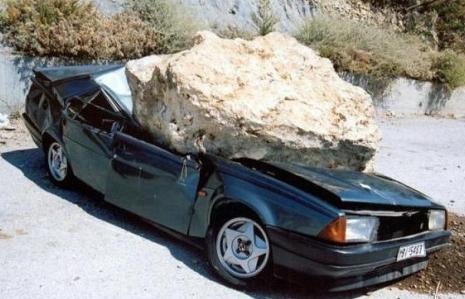 chutes de pierres frequentes