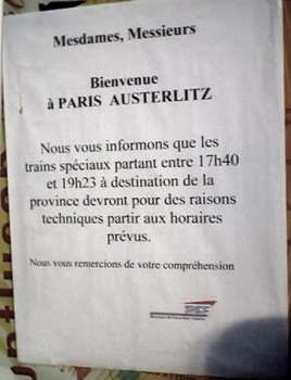 SNCF trains à l'heure pour une fois