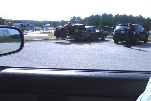 comment transporter un quad dans un coffre de voiture ?