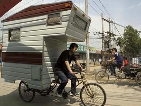 mini caravane velo