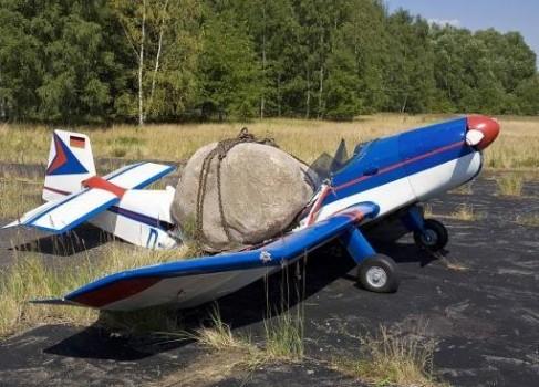 pierre sur un avion