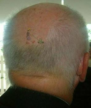 tatouage tondeuse cheveux