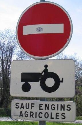 interdit aux tracteurs