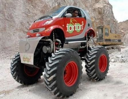 Une mini voiture pour des maxi roues