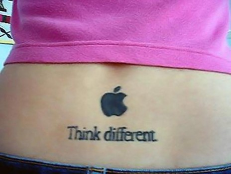 tatouage Think Different Apple