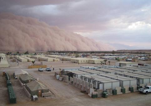 Tempête de sable en vue