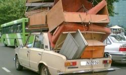 déménagement du salon avec une voiture en un seul trajet
