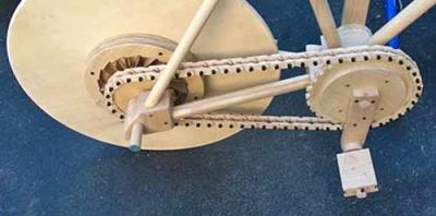pédalier en bois du vélo