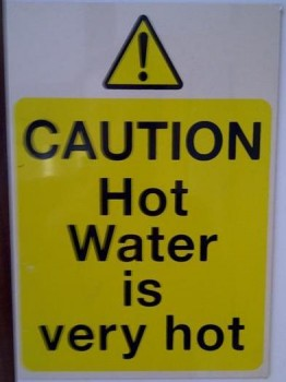 Hot Water is very hot