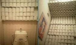 réserve de papier toilette