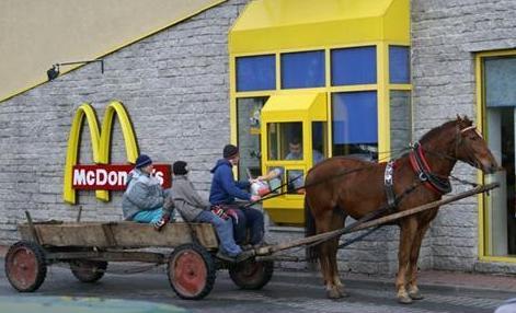 McDonalds y aller à cheval
