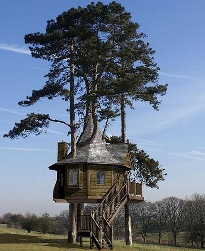 Une maison dans les arbres images - Construire une maison dans un arbre ...