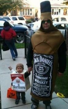 Zut, c'est encore papa qui m'accompagne pour Halloween