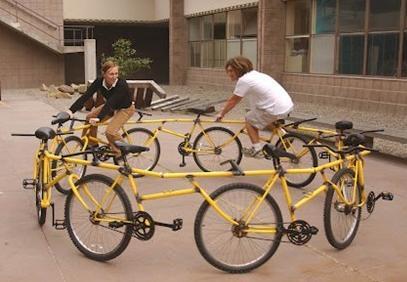 Un cercle de vélos