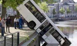 Un bus a l'eau