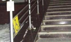 Un escalier pour handicapés pas pratique du tout