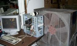 Un énorme ventilateur pour refroidir un PC
