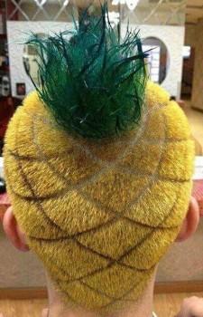 La coupe de cheveux ananas