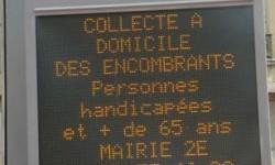 collecte à Lyon des personnes handicapées