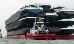 Comment transporter des bateaux sur l'eau?