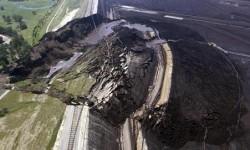 glissement de terrain énorme