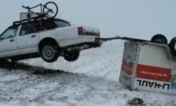 Accident de voiture avec remorque