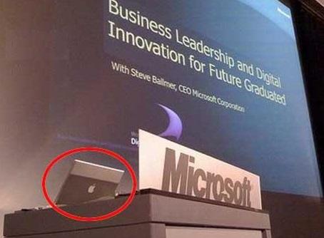 Microsoft utilise un ordinateur Apple