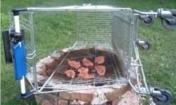 Comment recycler un caddie en faisant un barbecue