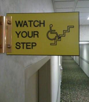 un escalier pour fauteuil roulant