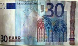 un faux billet de 30 euros