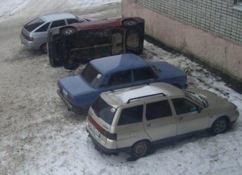 Une façon originale de garer sa voiture