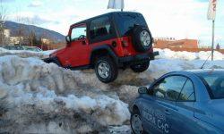 voiture au ski, merci la neige