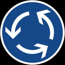 panneau du rond point